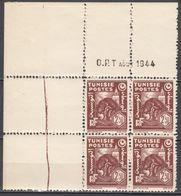 N° 259 En Bloc De 4 Coin Daté 08/1944 - X X - ( C 1506 ) - Tunisie (1888-1955)