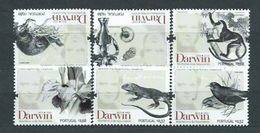 Año 2009 Nº 3363/8 Personalidades. Charles Darwin - 1910-... République