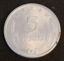 ALBANIE - ALBANIA - 5 QINDARKA 1969 - KM 44 - Albanie