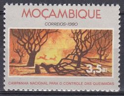 Mosambik Mosambique 1980 Umwelt Environment Brandschutz Waldbrand Brand Feuer Fire Wald Wood Forests, Mi. 778 ** - Mozambique