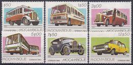 Mosambik Mosambique 1980 Transport Beförderung Automobile Autos Cars Autobus Bus Omnibus Taxi, Mi. 743-8 ** - Mozambique