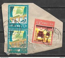 USED STAMPS  CHINA ON PIECE - China