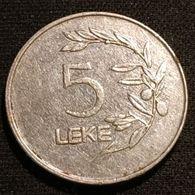 ALBANIE - ALBANIA - 5 LEKE 1995 - KM 76 - Albanië