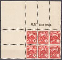 N° 256 En Bloc De 6 Coin Daté 08/1944 - X X - ( C 1035 ) - Tunisie (1888-1955)