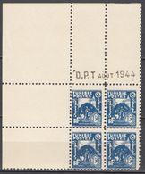 N° 257 En Bloc De 4 Coin Daté 08/1944 - X X - ( C 1423 ) - Tunisie (1888-1955)