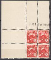 N° 256 En Bloc De 4 Coin Daté 08/1944 - X X - ( C 1308 ) - Tunisie (1888-1955)