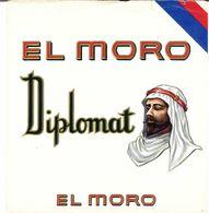VINTAGE - ETICHETTE PER SCATOLE SIGARI - EL MORO - DIPLOMAT - FIOR DI STAMPA 8/10 - FTO 16X19 - ORIGINALE - RILIEVO - Labels