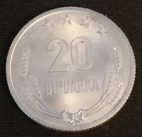 ALBANIE - ALBANIA - 20 QINDARKA 1969 - KM 46 - Albanie