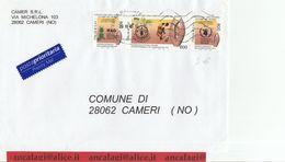 """St.Posta 1853 - REPUBBLICA 2001 - Post.Prioritaria 2°p. Affran. Con Trittico (L.800 0,41x3) """"Fame Nel Mondo"""" In Tariffa - 6. 1946-.. Repubblica"""