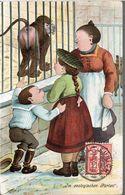 CPA SUISSE 1905  - HUMOUR..........AU ZOO ! - Humour