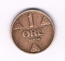 1 ORE 1938 NOORWEGEN //5194/ - Noruega