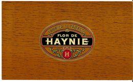 VINTAGE - ETICHETTE PER SCATOLE SIGARI - FLOR DE HAYNIE H -  FIOR DI STAMPA 10/10 - FTO 24,5X14,5 - ORIGINAL - RILIEVO - Etiquettes