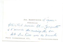 Visitekaartje - Carte De Visite - Ere Leraar Ad. Baeyens - St Amandsberg Gent - Cartes De Visite