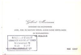 Visitekaartje - Carte De Visite - Aannemer Bouwwerken - Gilbert Moerman - Gent - Cartes De Visite