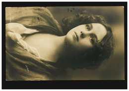 Mode-AK Frauenportrait, Gerlach, Verlag G.G.&.Co., HALLE (SAALE) 3.1.1910  - Fashion