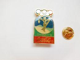 Beau Pin's , Coca Cola , JO Jeux Olympiques Chamonix 1924 - Coca-Cola