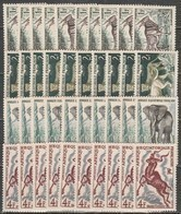 10x French Equatorial Africa 1957, Animals Of Africa (MNH, **) - Francobolli