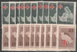 10x Yugoslavia 1950, Red Cross (charity Issues) (MNH, **) - Francobolli