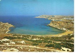 Malte Malta N°107 Ghajn Tuffieha Sandy Beach Tel 29068 Big P VOIR TIMBRE Boeing 737 Airmalta 1984 - Malte
