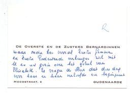 Visitekaartje - Carte De Visite - De Overste En Zusters Bernardinnen - Oudenaarde - Cartes De Visite