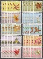 5x Nicaragua 1962, Orchids (MNH, **) - Francobolli