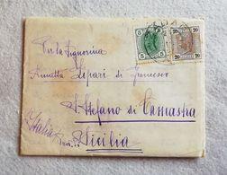Lettera Da Zadar Per S.Stefano Di Camastra 1907 - Cartas