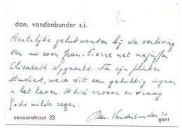 Visitekaartje - Carte De Visite - Dan. Vandenbunder S.i. - Gent - Cartes De Visite