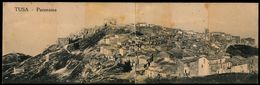 TUSA (MESSINA) PANORAMA SU CARTOLINA DOPPIA 1918 - Messina