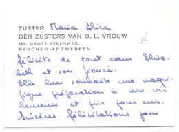 Visitekaartje - Carte De Visite - Zuster Maria Alice Der Zusters Van OLVr - Berchem Antwerpen - Cartes De Visite