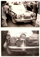2 Photos Originales Sport Auto, Mercedes N° 120 (8715 GD 62) Au 23 ème Rallye De Monte Carlo En 1970 - Auto's