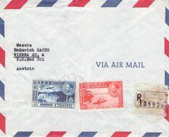 ETHIOPIA - RECO AIRMAIL 1961 ADDIS ABEBA - VIENNA/AT /T176 - Ethiopie