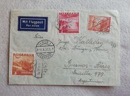 Busta Di Lettera Per Via Aerea Da Vienna Per Buenos Aires 1938 - Airmail