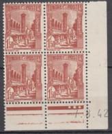 N° 234 En Bloc De 4 Coin Daté 07/08/42 - X X - ( C 1524 ) - Tunisie (1888-1955)