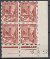 N° 234 En Bloc De 4 Coin Daté 12/08/42 - X X - ( C 1622 ) - Tunisie (1888-1955)