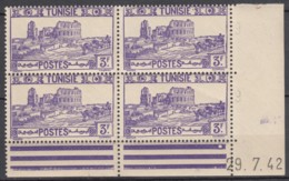 N° 237 En Bloc De 4 Coin Daté 29/07/42 - X X - ( C 1624 ) - Tunisie (1888-1955)