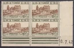N° 239 En Bloc De 4 Coin Daté 10/07/42 - X X - ( C 1108 ) - Tunisie (1888-1955)
