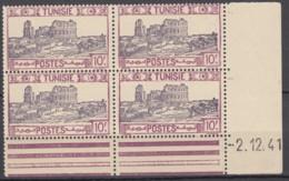 N° 241 En Bloc De 4 Coin Daté 02/12/41 - X X - ( C 876 ) - Tunisie (1888-1955)