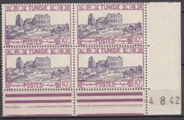 N° 241 En Bloc De 4 Coin Daté 04/08/42 - X X - ( C 1083 ) - Tunisie (1888-1955)