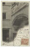 SAGE 2C AU RECTO CARTE MONTFERRAND C. HEX CLERMONT FERRAND  B 1901 PUY DE DOME - Postmark Collection (Covers)