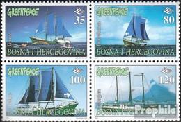 Bosnien-Herzegowina 87-90 Viererblock (kompl.Ausg.) Postfrisch 1997 Greenpeace - Bosnia And Herzegovina