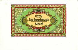 VINTAGE - ETICHETTE PER SCATOLE SIGARI - JUAN GARCIA ESPECIALES HABANA -  QUALITA' 10/10 FTO 25X16,5 ORIGINALE, RILIEVO - Etiquettes