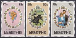 Lesotho 1981 Geschichte History Perönlichkeiten Königshäuser Royals Prinz Charles Lady Diana Spencer, Mi. 344-6 ** - Lesotho (1966-...)