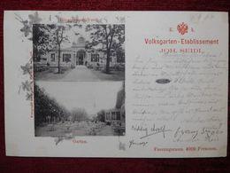 AUSTRIA / WIEN - VIENNA / VOLKSGARTEN - JOH.SEIDL RESTAURANT RINGSTRASSEFRONT / 1899 (AB31) - Vienna Center