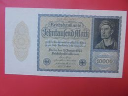 Reichsbanknote 10.000 MARK 1922 VARIETE N°3 PETIT FORMAT ET 6 CHIFFRES CIRCULER (B.15) - 10000 Mark