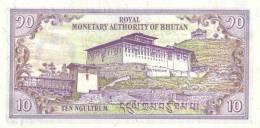 BHUTAN P. 22 10 N 1986 UNC - Bhoutan