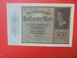 Reichsbanknote 500 MARK 1922 CIRCULER (B.15) - 500 Mark
