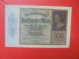 Reichsbanknote 500 MARK 1922 CIRCULER (B.15) - [ 3] 1918-1933 : République De Weimar