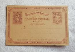 Cartolina Postale Republica Del Salvador Da 2 Cent. 1890 - Non Viaggiata - El Salvador