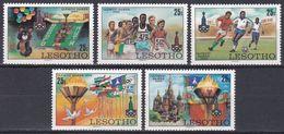 Lesotho 1980 Sport Spiele Olympia Olympics IOC Moskau Moscow Fußball Football Soccer Marathon Mischa, Mi. 291-5 ** - Lesotho (1966-...)