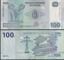 Kongo (Kinshasa) Pick-Nr: 98b Bankfrisch 2013 100 Francs - Congo